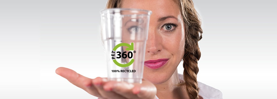 Recycled PET glazen
