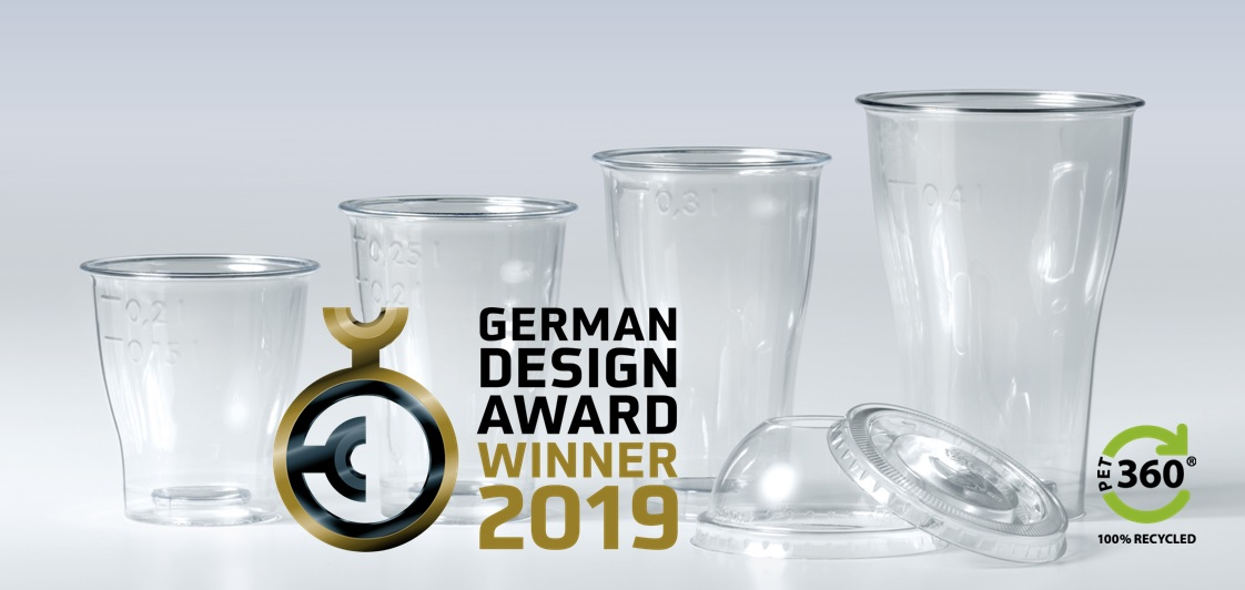 Circulaire PET360® drinkbeker wint German Design Award 2019